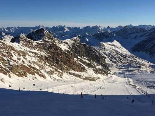 Top of Pitztal. What a view!