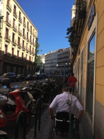 Wondering the streets of Madrid and getting the miles up working on the shoulder
